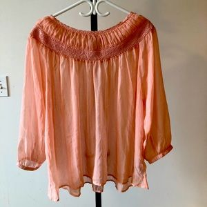 Red Tag - size 18 Beautiful sheer blouse